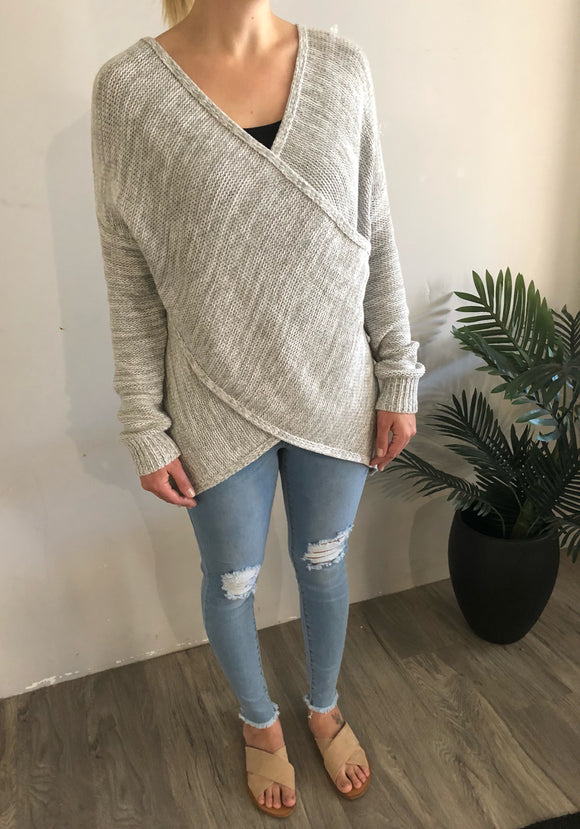 Cross Knit - Grey