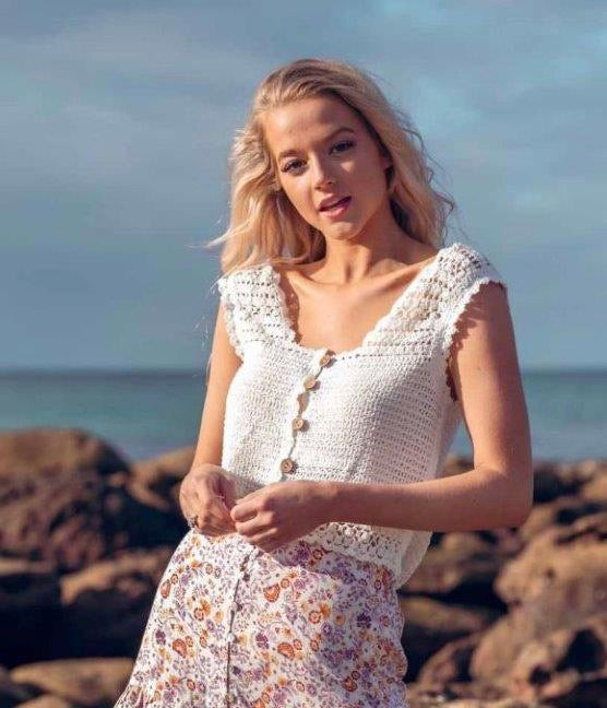 Hannah Crochet Top CLEARANCE