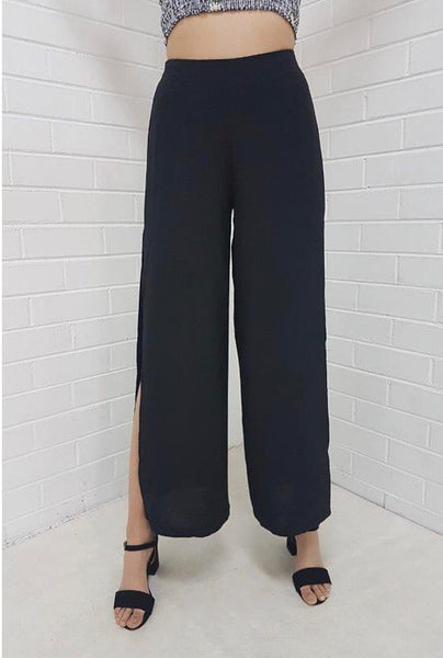 Katnis Wide Leg Split Pants
