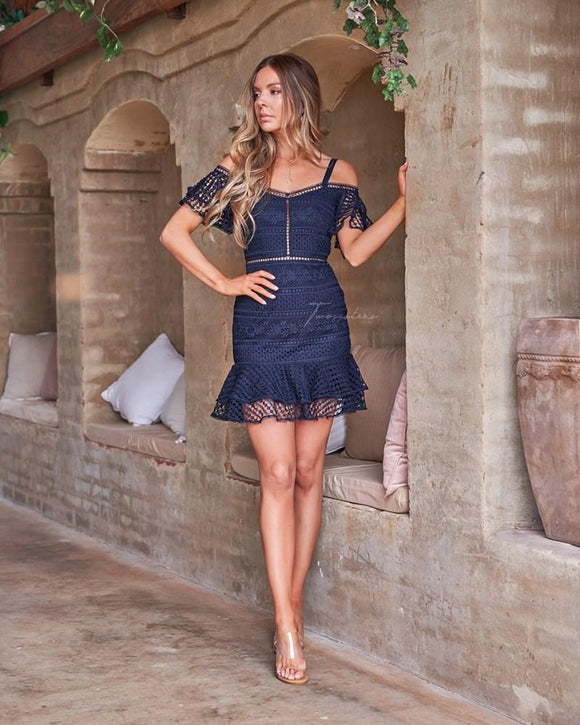 Sao Paolo Dress - Navy || Twosisters The Label