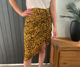 Side Gather Skirt - Jungle CLEARANCE