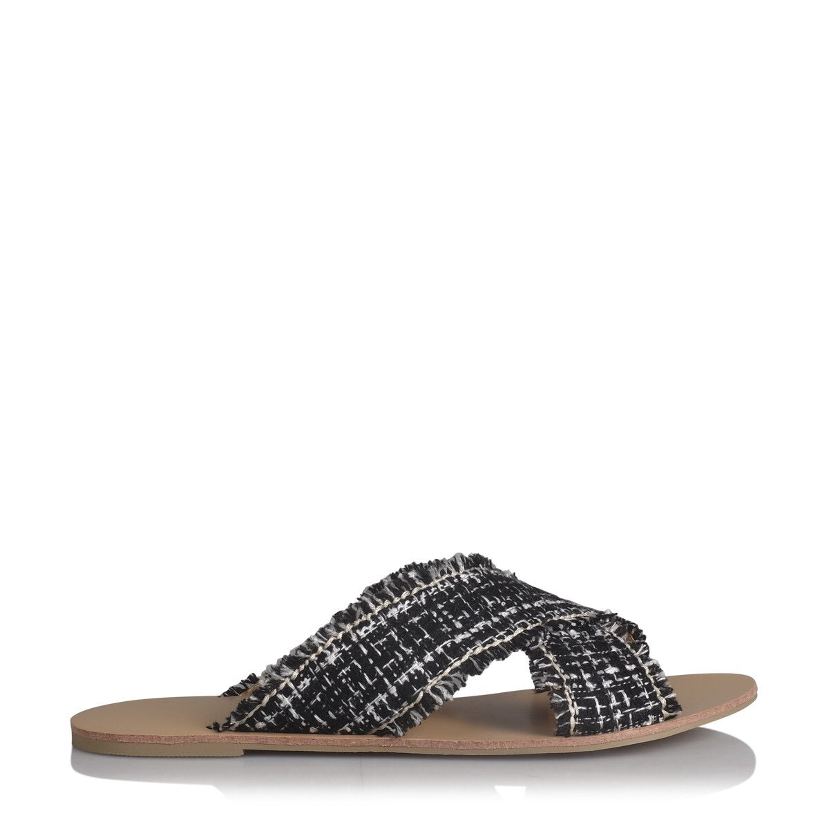 Coco Black Woven Slide by Billini Shoes