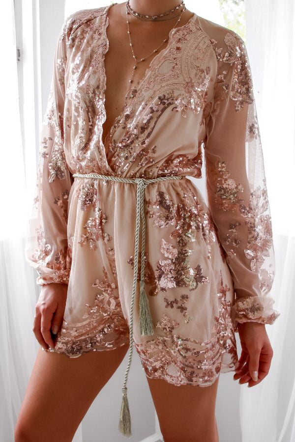 Twilight Playsuit - Rose