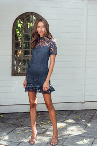 Newton Dress - Steele Blue || Twosisters The Label