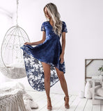 Shay Hi Lo Dress - Navy CLEARANCE