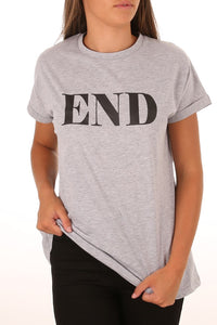 End Tee - Grey CLEARANCE