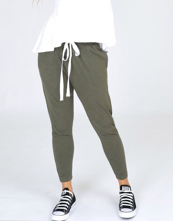 Bondi Slouch Pants - Khaki (3rd Story The Label)