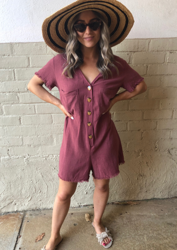 Freya Romper - Dusty Rose CLEARANCE
