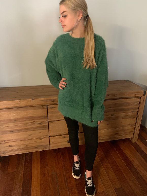 Ava Knit Jumper - Green CLEARANCE
