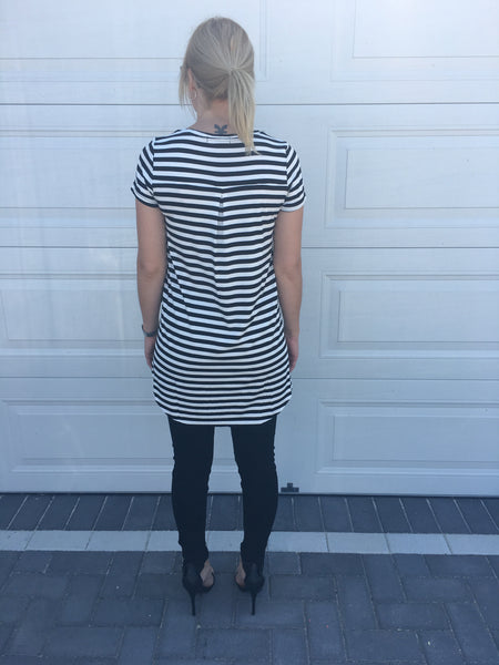 Striped Hi Lo Tee