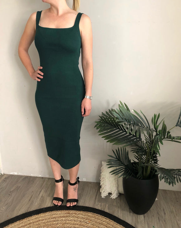 Emerald Knit Bodycon Dress CLEARANCE