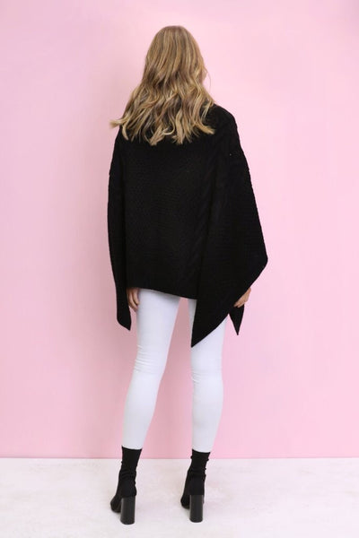 Bells Out Poncho - Black