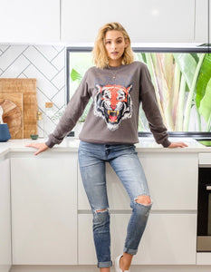 Bang Tiger Sweater - Charcoal