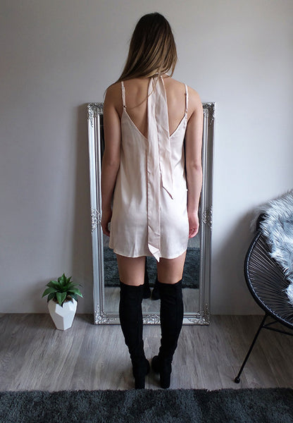 Jenner Slip Dress || Blush