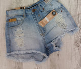 Vibe High Waisted Denim Shorts by Refuge