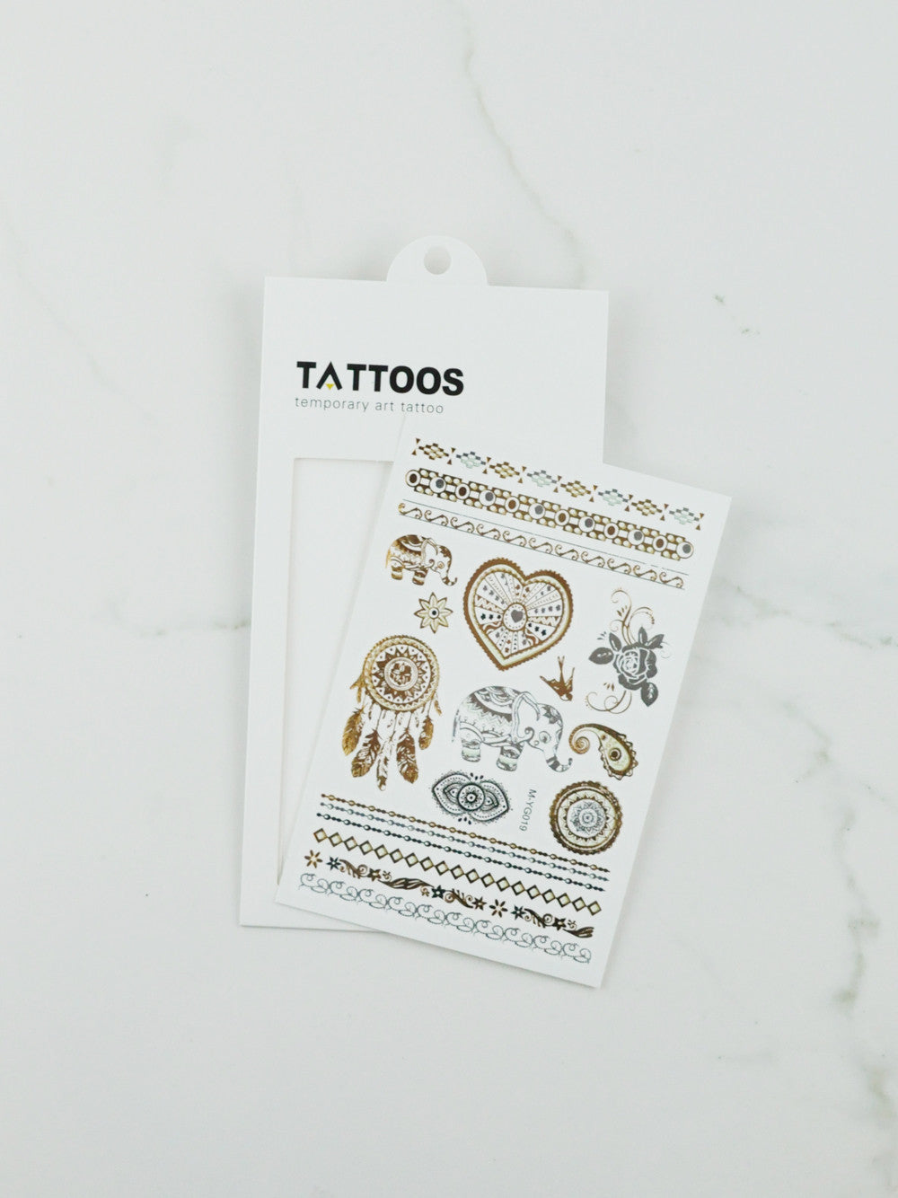 Temporary Tattoo - Metallic - Style 1