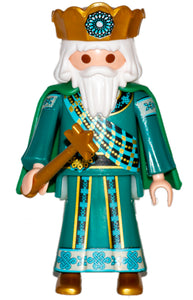 Playmobil 9497 Wise King 30 00 2904 white hair and long beard, green robes