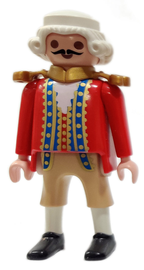 Playmobil 30 00 9572 30009572 Bastion Commander, Royal Navy: red coat, white periwig, redcoat 5139