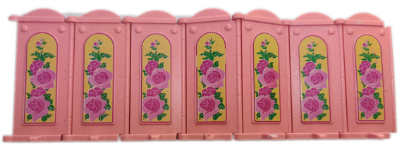 Playmobil 30 64 0840 Victorian Pink Dressing Screen, standing, archtop (Pre-Owned)