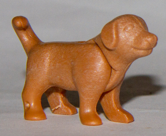 Playmobil baby dog brown standing puppy 30 67 1010