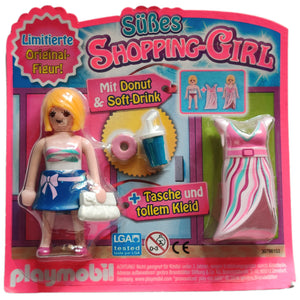 Playmobil 30 79 8153 Süßes Shopping-Girl with Donut & Soft-Drink - Magazine Blister