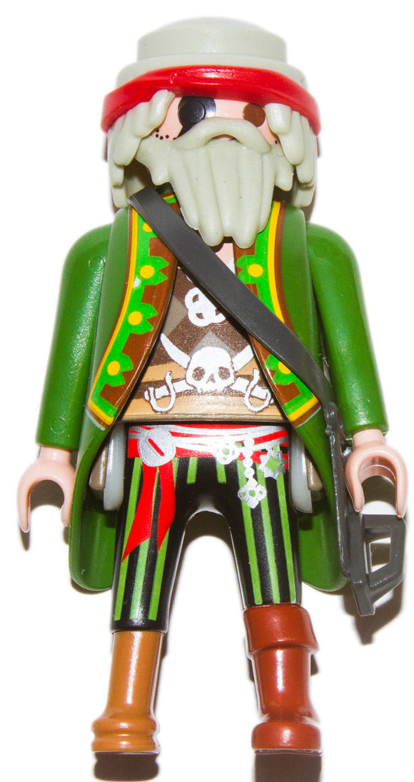Playmobil 30 00 5403 Pirate Captain white hair beard coat Peg Leg 6162 70150