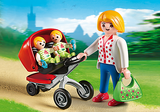 Playmobil 5573 Mother with Twin Stroller (Mint in Box)