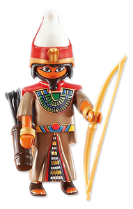 Playmobil 6489 Leader of the Egyptian Soldiers Commander, with Egyptian double crown, bow and arrow