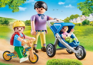 Playmobil 70284 Mother Children Boy Baby Stroller Scooter