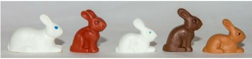 Playmobil Set of Bunnies Rabbits White Brown Animals