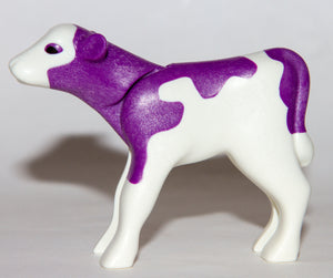 Playmobil 70263 Purple White Milka Cow Calf Rinderkalb Becerro de vaca