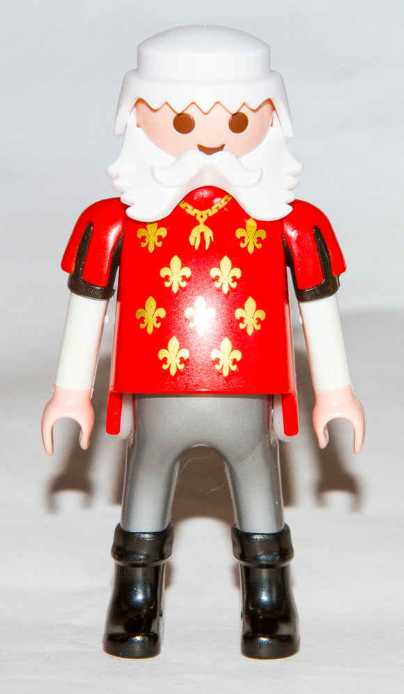 Playmobil Old King 6378 Fleur de Lys Big Belly Black Boots Frill Arms