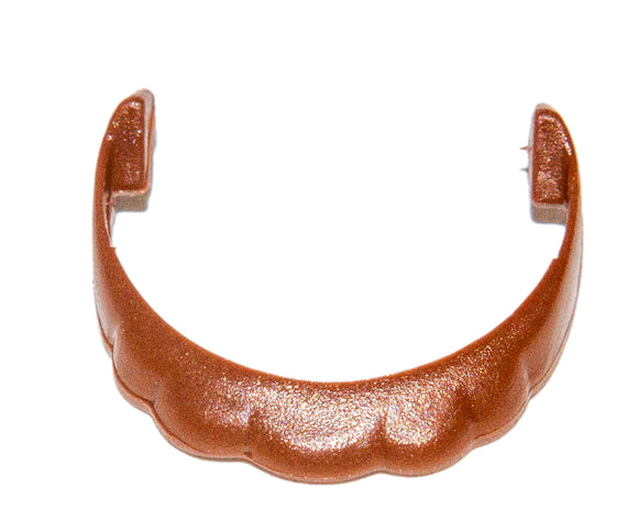 Playmobil Chocolate Brown Short Curly Beard Accessories