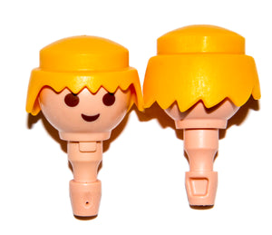 Playmobil Lotx2 30 09 6190 Wig hair classic male yellow hair (face not included)
