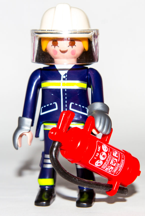 Playmobil 9333 Series 13 Girls Firewoman Fireman Firefighter