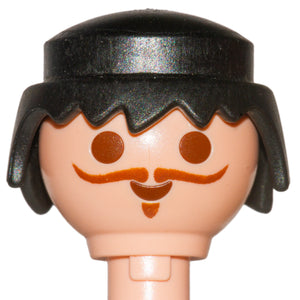 Playmobil Male Black Hair Wig classic updated 30 23 1862 (Perücke-Mann 2010) (No Face)