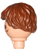 Playmobil Male Brown Hair Wig loose with long strands (Perücke-Sportler) (No Face)