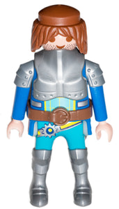 Playmobil 30 00 4704 30004704 Novelmore knight long brown hair blue silver armour 70187