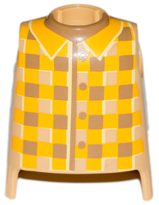 Playmobil Torso Western man grey long coat yellow shirt 6323 Western cowboy bandit