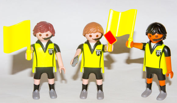 Playmobil 4728 9824 Football Soccer Referees Flag Whistle Red Yellow Card