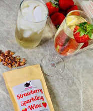 Load image into Gallery viewer, Strawberry Sparkling Wine - Tea Please