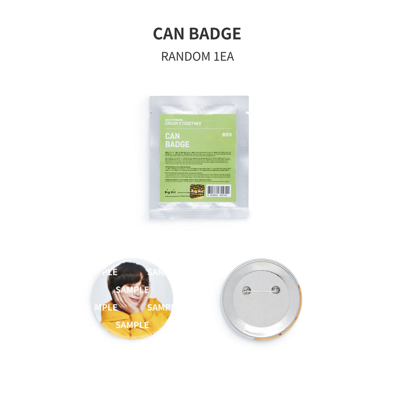 【2020 FANLIVE DREAM X TOGETHER MD】 CAN BADGE