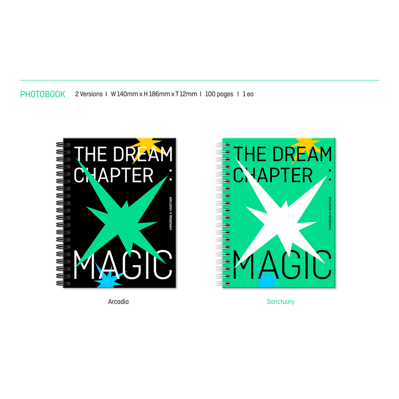2形態(ARCADIA, SANCTUARY)セット TOMORROW X TOGETHER ファーストアルバム「The Dream Chapter: MAGIC」