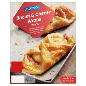 Greggs 2 Bacon & Cheese Wraps 194G - Iceland