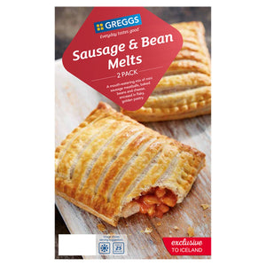 Greggs 2 Sausage & Bean Melts 308G - Iceland