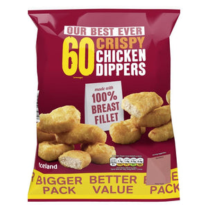 Iceland 60 Crispy Chicken Breast Dippers 1.08 kg - Iceland