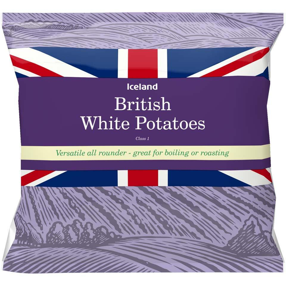 Iceland British White Potatoes 2Kg - Iceland