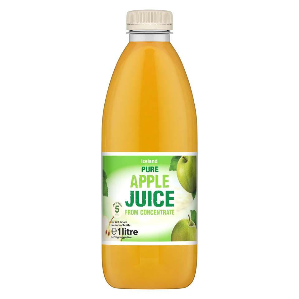 Iceland Pure Apple Juice From Concentrate 1L - Iceland