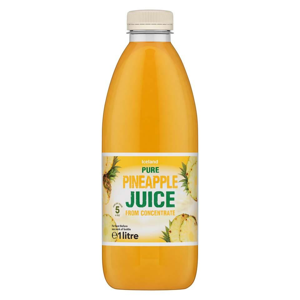 Iceland Pure Pineapple Juice from Concentrate 1L - Iceland