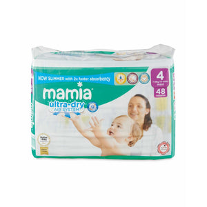 Mamia Ultra Dry Nappies Size 4 48 Nappies - Aldi